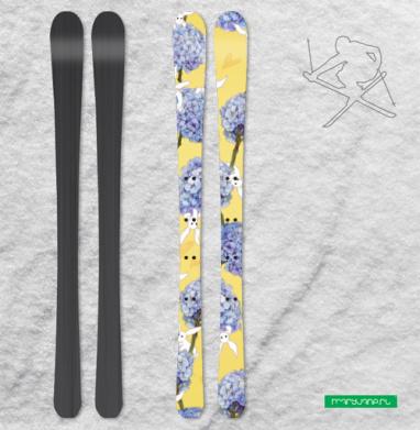Гортензия с секретом - Наклейки на лыжи