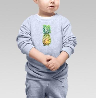 Тропические каникулы - Купить детские свитшоты с фруктами в Москве, цена детских свитшотов с фруктами  с прикольными принтами - магазин дизайнерской одежды MaryJane