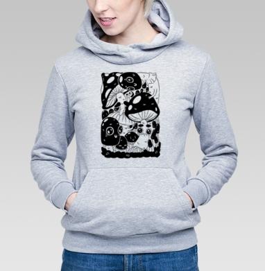 Глазастые грибы - Купить детские толстовки с грибами в Москве, цена детских толстовок с грибами с прикольными принтами - магазин дизайнерской одежды MaryJane