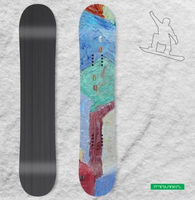 Мегаполис домики - Наклейки на доски - сноуборд, скейтборд, лыжи, кайтсерфинг, вэйк, серф
