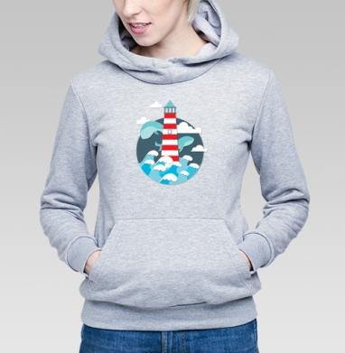 Маяк для китов - Купить детские толстовки морские  в Москве, цена детских  морских   с прикольными принтами - магазин дизайнерской одежды MaryJane