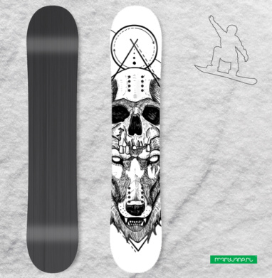 Санитар леса  - Виниловые наклейки на сноуборд купить с доставкой. Воронеж