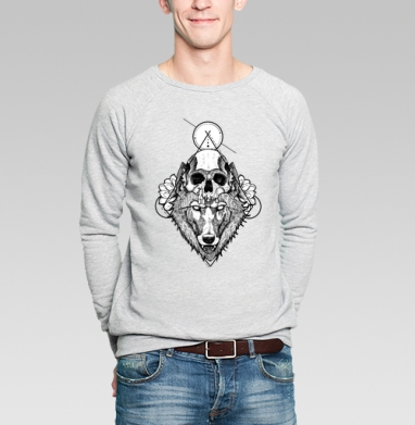 Санитар леса  - Купить мужские свитшоты с черепом в Москве, цена мужских  с черепом  с прикольными принтами - магазин дизайнерской одежды MaryJane