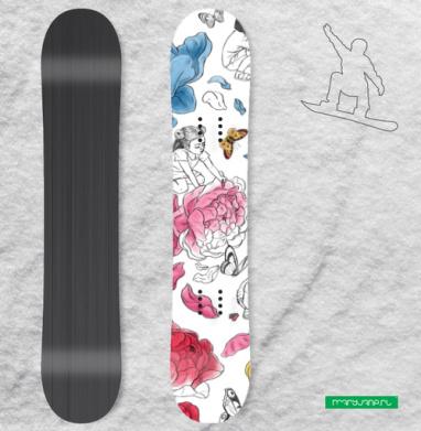 Раскрась свой мир - Наклейки на доски - сноуборд, скейтборд, лыжи, кайтсерфинг, вэйк, серф