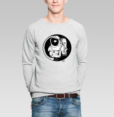 Мирный астронавт - Купить мужские свитшоты с космосом в Москве, цена мужских свитшотов с космосом  с прикольными принтами - магазин дизайнерской одежды MaryJane