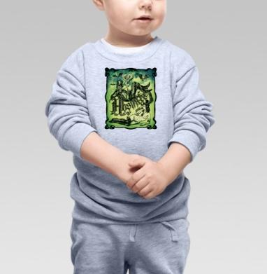 Cвитшот Детский серый меланж - Абсентовая фантазия.