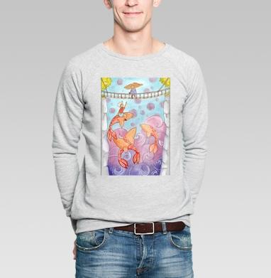 Оранжевые киты - Купить мужские свитшоты с акварелью в Москве, цена мужских свитшотов с акварелью  с прикольными принтами - магазин дизайнерской одежды MaryJane