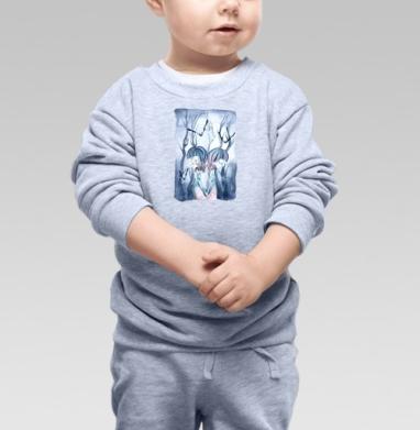 Близнецы в ночном лесу - Детские футболки