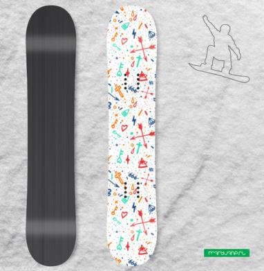 Олдскульные татули - Наклейки на доски - сноуборд, скейтборд, лыжи, кайтсерфинг, вэйк, серф
