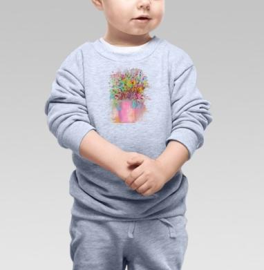 Цветы маслом - Свитшоты детские