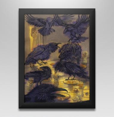 Семь воронов, Постер в чёрной раме