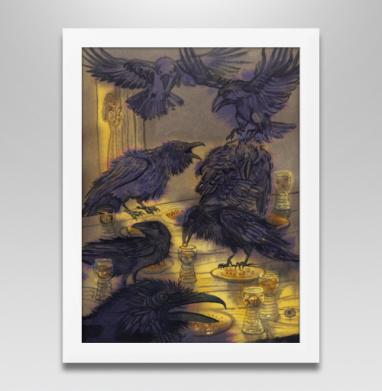 Семь воронов, Постер в белой раме