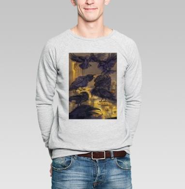 Семь воронов - Купить мужские свитшоты с акварелью в Москве, цена мужских свитшотов с акварелью  с прикольными принтами - магазин дизайнерской одежды MaryJane
