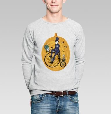 Загробная романтика - Купить мужские свитшоты с велосипедом в Москве, цена мужских свитшотов с велосипедом с прикольными принтами - магазин дизайнерской одежды MaryJane