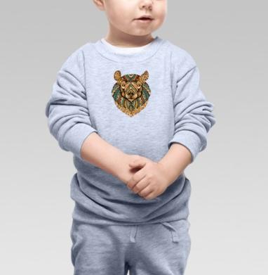 Cвитшот Детский серый меланж - Медведь