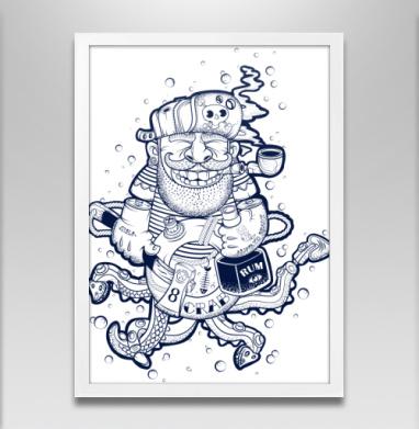 Кок - Постер в белой раме, борода