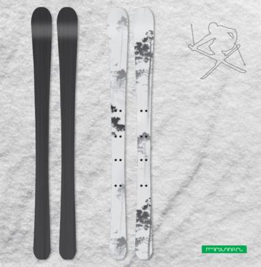 Лес. туман - Наклейки на лыжи