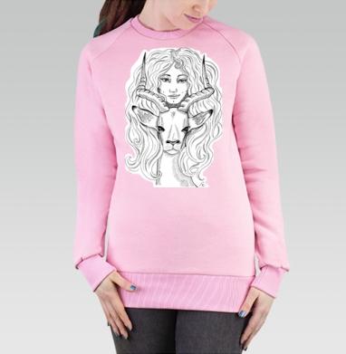 Cвитшот женский розовый  320гр, стандарт - Антилопа
