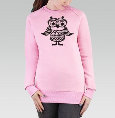 Cвитшот женский, толстовка без капюшона розовый - Добросова