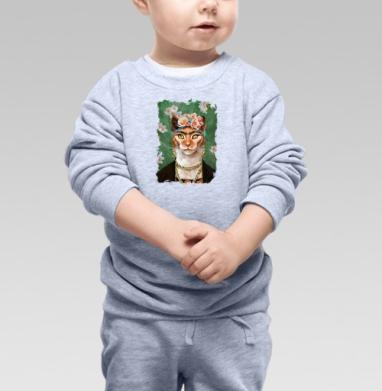 Cвитшот Детский серый меланж - Фрида Кало моими глазами