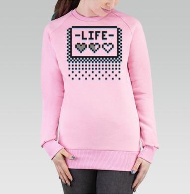 Cвитшот женский, толстовка без капюшона розовый - Biteheart