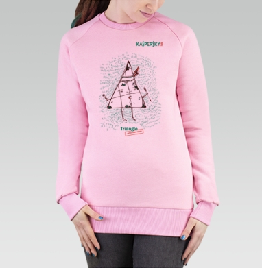 Cвитшот женский розовый  320гр, начес - Triangle