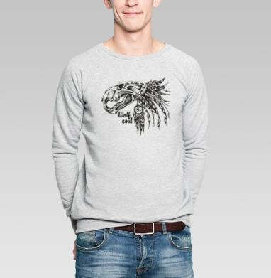 ДУХ ВОЛКА - Купить мужские свитшоты с индейцами в Москве, цена мужских  с индейцами  с прикольными принтами - магазин дизайнерской одежды MaryJane
