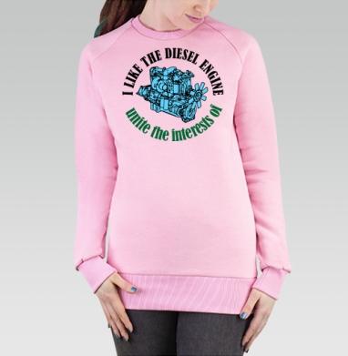 Мне нравится дизель, Cвитшот женский розовый  320гр, стандарт