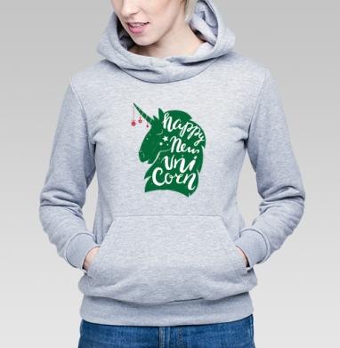 Новогодний единорог - Купить детские толстовки с символами в Москве, цена детских толстовок с символом с прикольными принтами - магазин дизайнерской одежды MaryJane