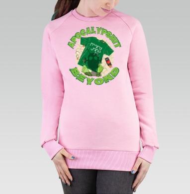 Cвитшот женский розовый  320гр, начес - ApocalypShit. Beyond