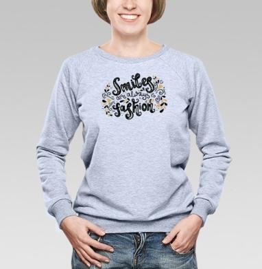 Улыбка всегда в моде - Купить детские свитшоты модные в Москве, цена детских свитшотов модных  с прикольными принтами - магазин дизайнерской одежды MaryJane
