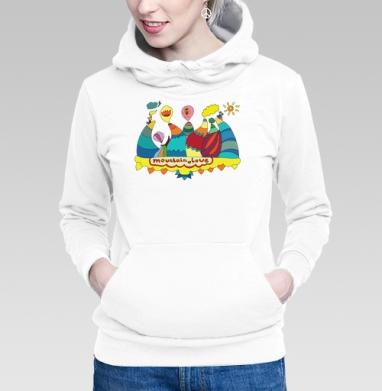 Толстовка Женская белая - Любовные горы