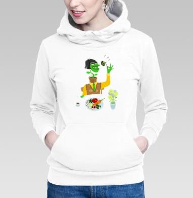 Толстовка Женская белая - Живая еда