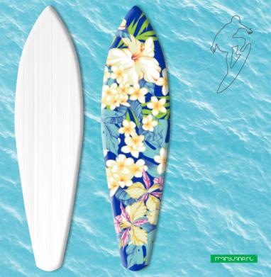 Гавайские цветы - Наклейки на серф