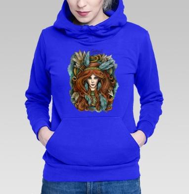 Толстовка Женская синяя - Зодиак Стрелец