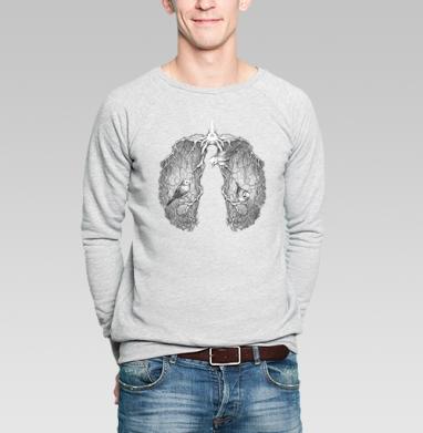 Лёгкая весна - Купить мужские свитшоты с птицами в Москве, цена мужских свитшотов с птицами  с прикольными принтами - магазин дизайнерской одежды MaryJane