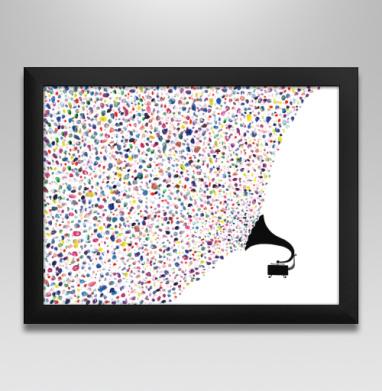 Цвета музыки, Постер в чёрной раме