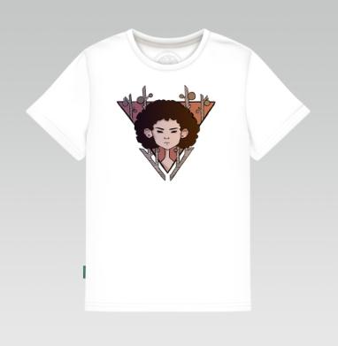 Детская футболка белая - Девушка Африка