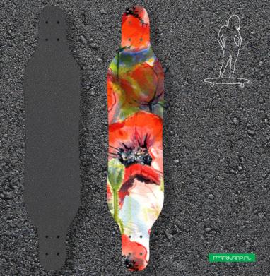 Маковая фантазия - Наклейки на лонгборд