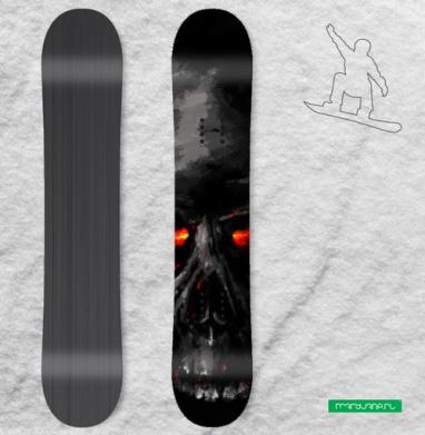 Тщетность бытия - Сплошные наклейки сноуборд c черепами