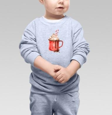 Зимний напиток - Cвитшот Детский серый меланж, Новинки