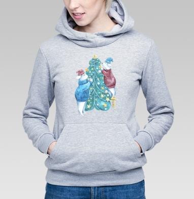 Роб, Лили и елка - Купить детские толстовки с программистом в Москве, цена детских толстовок с программистом с прикольными принтами - магазин дизайнерской одежды MaryJane