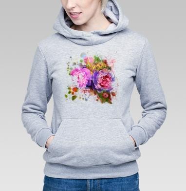 Композиция из цветов пионов - Купить детские толстовки Текстуры в Москве, цена детских толстовок Текстуры с прикольными принтами - магазин дизайнерской одежды MaryJane