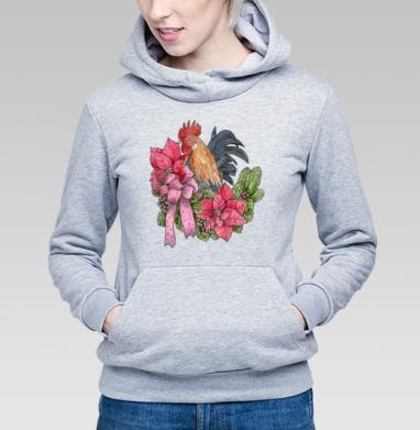 Петух с венком - Толстовки женские в интернет-магазине