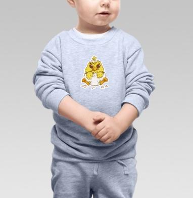 Цыпленок - Cвитшот Детский серый меланж, Новинки