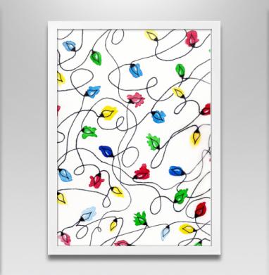 Новогодняя гирлянда - Постеры, новый год, Популярные