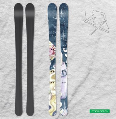 Ты такой же нормальный, как и я - Наклейки на лыжи