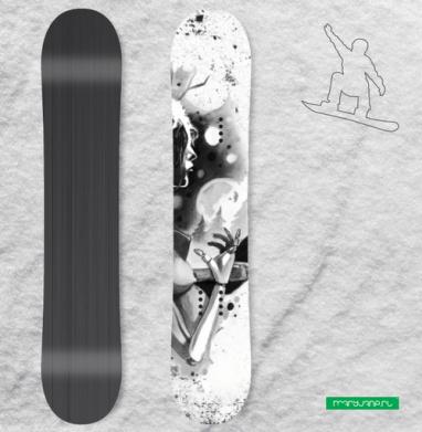 Игра теней - Виниловые наклейки на сноуборд купить с доставкой. Воронеж