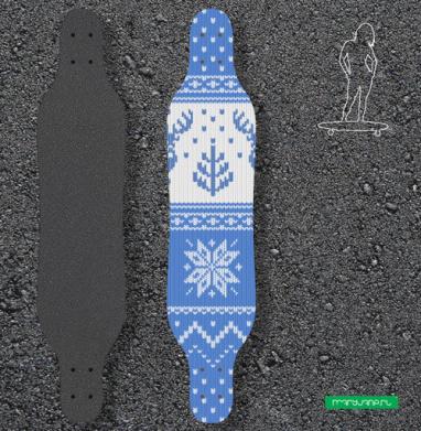 Зимний свитер с оленями - Наклейки на лонгборд