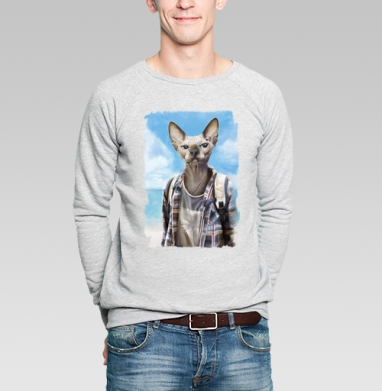Сфинкс турист - Купить мужские свитшоты с летом в Москве, цена мужских  с летом  с прикольными принтами - магазин дизайнерской одежды MaryJane